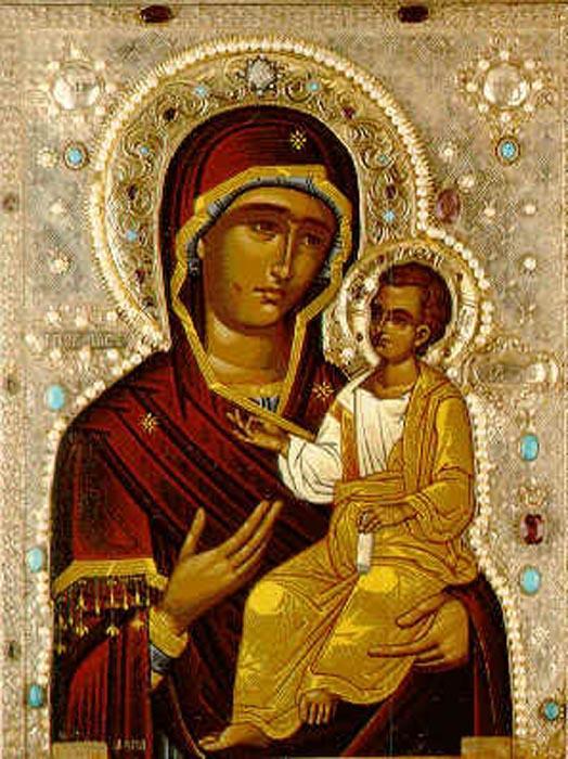 El icono ortodoxo ruso.