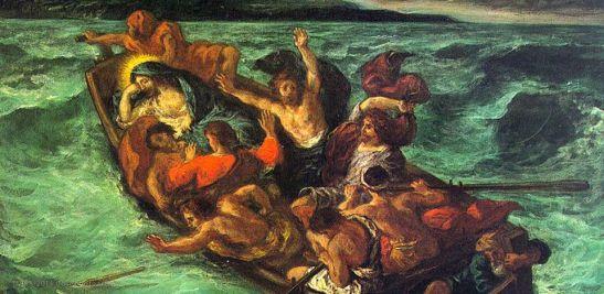 Eugene Delacroix, Gesù sul lago di Genezareth, 1854, Nelson-Atkins Museum of Art, Kansas City, USA
