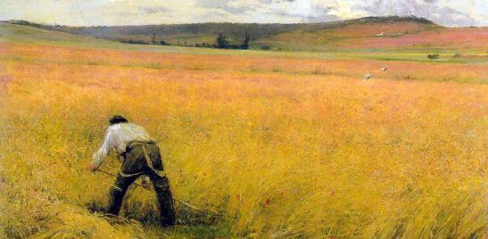 Jules Bastien Lepage, Les Bles murs, olio su tela, 1880