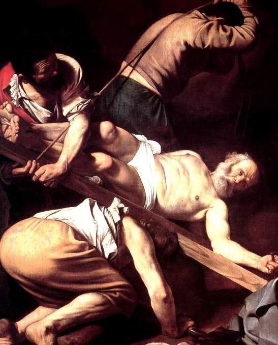 la Crocifissione di San Pietro di Caravaggio
