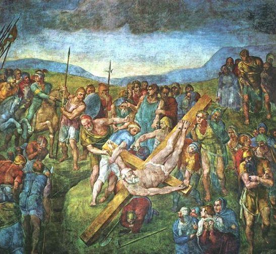 Michelangelo Crocifissione di san Pietro