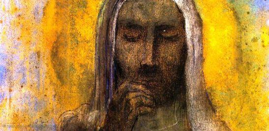 Odilon Redon, Cristo in silenzio (particolare), 1897 circa, Musée du Petit Palais, Avignone, Francia
