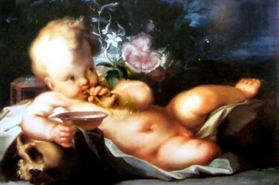 66. Ignaz Stern (detto Ignazio Stella) 1679-1748 Vanitas con Cupido Collezione Privata