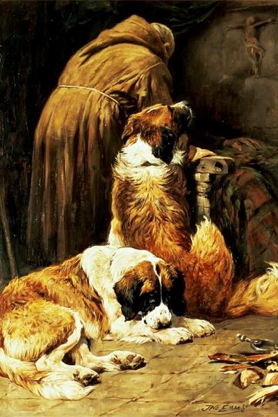 69. John Emms, Il soccorso, olio su tela, 1913. Collezione Privata