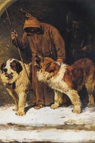 69. John Emms, La fede di San Bernardo, olio su tela, XIX sec. Collezione Privata