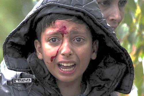 Bambini migranti, la paura nei volti