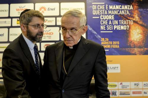 Il cardinale Tauran con il Gran Rabbino di Francia Haim Korsia