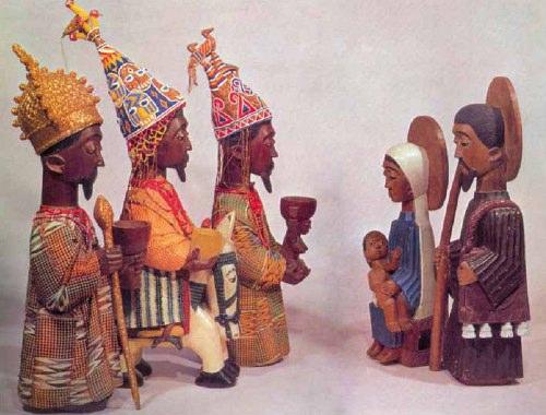 L'arte cristiana yoruba della Nigeria.