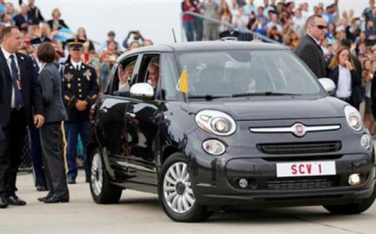 A Fiat is worth a thousand words as Pope Francis opts for humble ride
