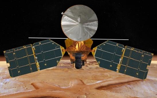 Il satellite Mro in orbita intorno a Marte (Immagine Nasa)