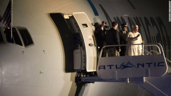 pope-leaving Philadelphia