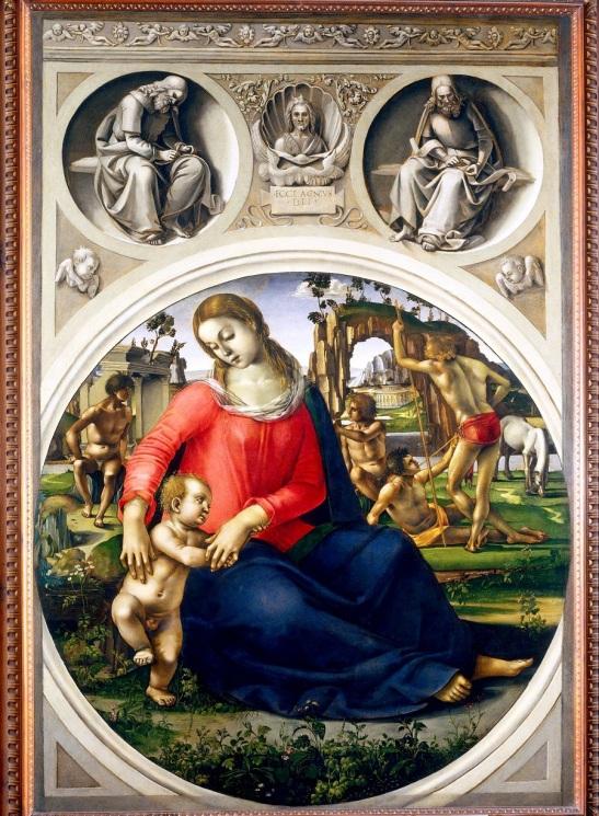 77. Luca Signorelli, Madonna col Bambino tra Ignudi, 1485-90 circa olio su tavola; cm 170x117,5 Galleria degli Uffizi, Firenze