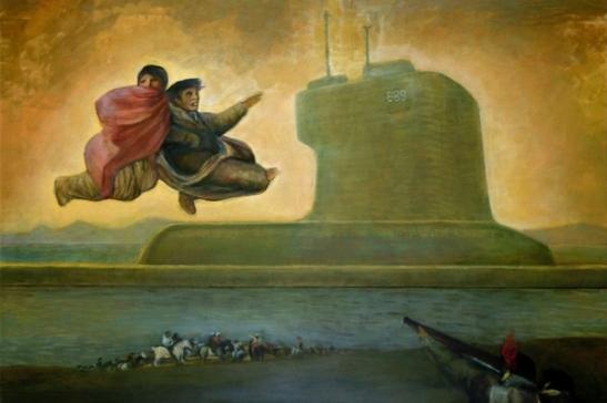 78. Arturo Miquel Monfort Asmodeo nucleare, 2013, acrilico su pannello cm 120 x 162 Collezione privata