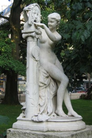 80. Jules Blanchard (French, 1832-1916) Bocca della verità (1871), scultura, Parigi, Jardin du Luxembourg.