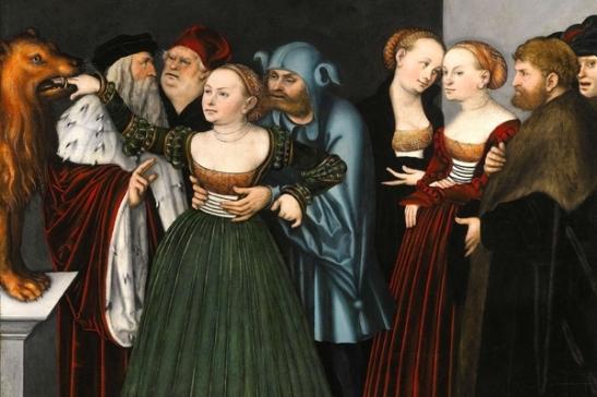 80. Lucas Cranach, il vecchio. La bocca della Verità olio su tempera 1525-27 Collezione Privata
