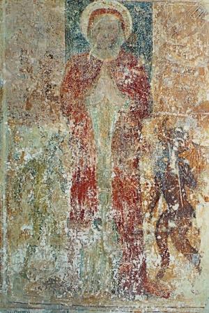 81. Allegoria della Domenica o Madonna dei Mestieri, affresco XV sec Pieve della Mitria Brescia Domenica