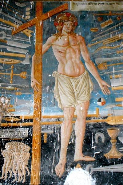 81. Paolo di Giovani da Visso, Il Cristo della Domenica, Affresco XV sec. Chiesa di San Martino dei Gualdesi, Castelsantangelo sul Nera, Macerata, Marche