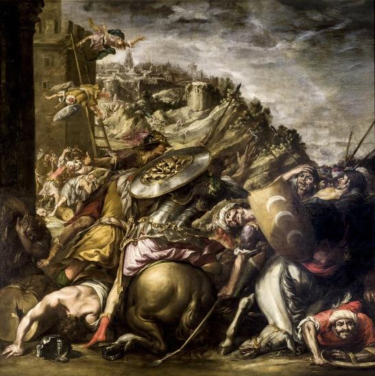 82. Fuga dei saraceni (Derrota de los Saracenos) olio su tela 330 x 325 cm.1653, Ayuntamento de Sevilla