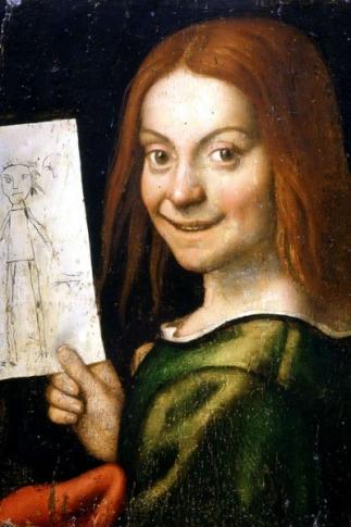 83. Giovanni Francesco Caroto, Bambino con disegno, olio su tela 37x29 cm XVI sec. Già Verona Museo di Castelvecchio (trafugato il 19 novembre 2015)