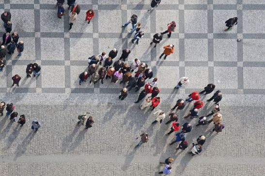 Crowd of people. Credit Zbynek Jirousek via www.shutterstock.com.