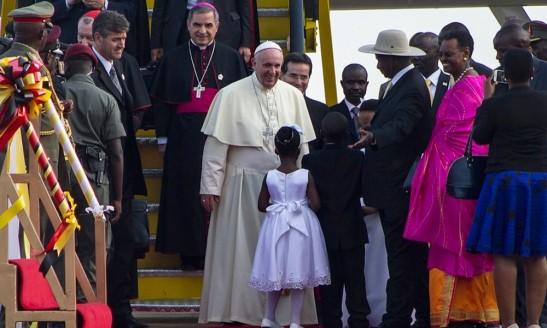 viaggio del papa in Uganda 1