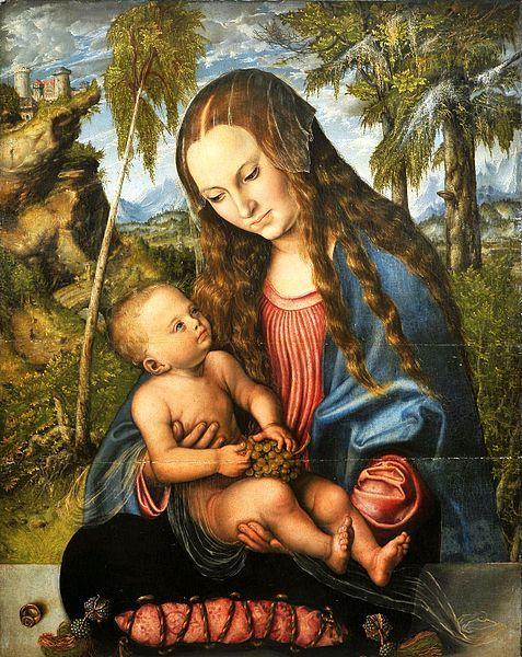 4 Lucas Cranach, Madonna tra gli abeti