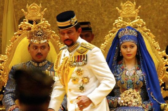 Brunei - sultano al sposalizio dl figlio