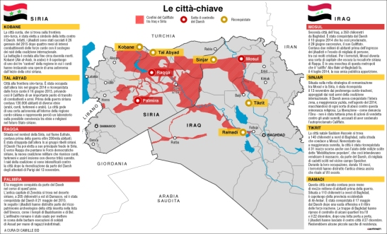La guerra al Califfato, ecco le città chiave