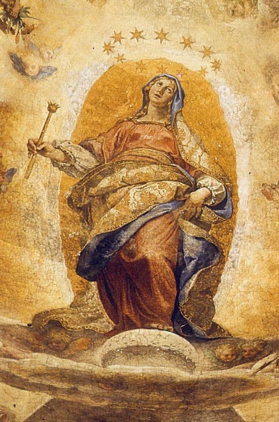 La Madonna galileiana di Ludovico Cardi, detto il Cigoli, cupola della Cappella Paolina in Santa Maria Maggiore