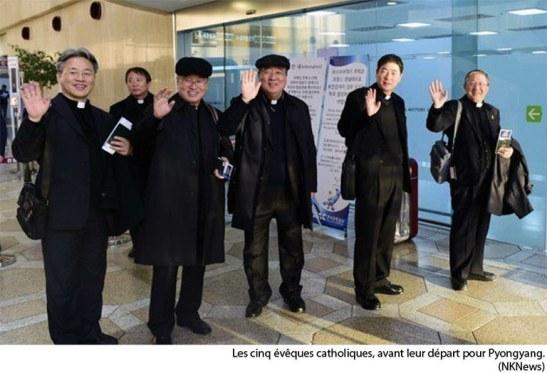 Les cinq évêques catholiques sud-coréens