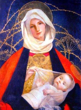 Madonna-con-Bambino-Tempo-di-preghiera