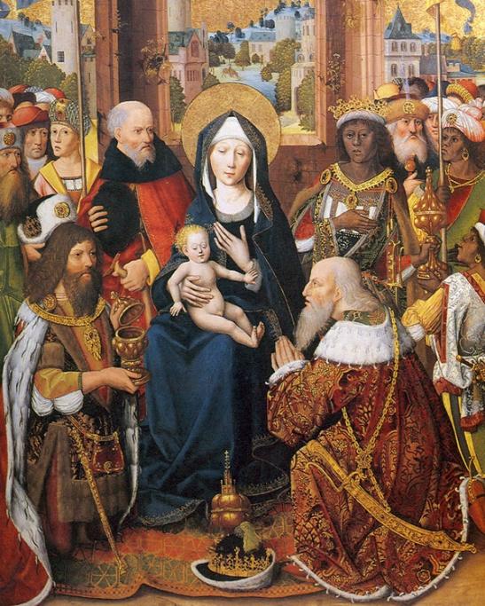 Maestro della glorificazione della Vergine, Adorazione dei Magi (1480 circa). Aquisgrana, Suermondt-Ludwig Museum