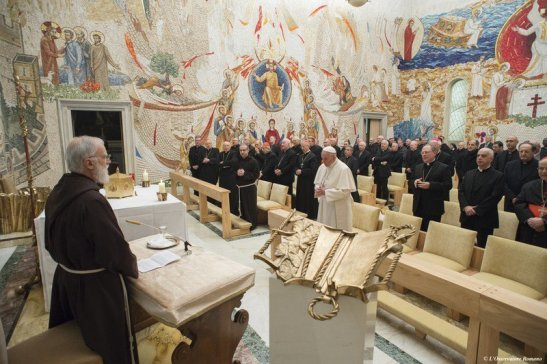 Prima predica d'Avvento 2015 del padre Raniero Cantalamessa.