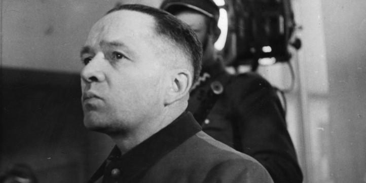 Auschwitz 10 Rudolf Hoess durante o seu julgamento em Nuremberga