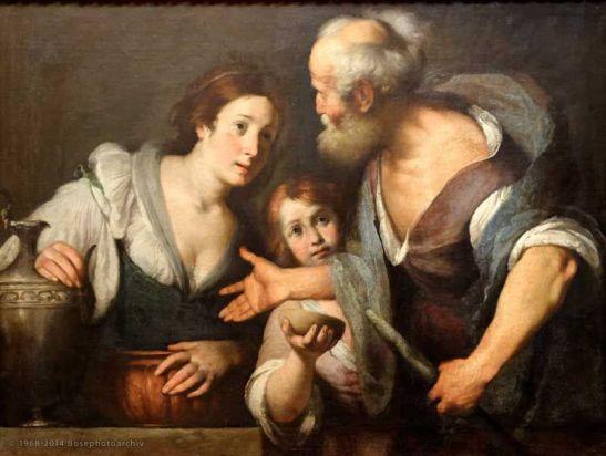Bernardo Strozzi, Il profeta Elia e la vedova di Sarepta, 1630, Kunsthistorisches Museum, Vienna, Austria