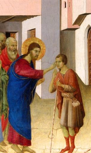 Jesus cura cego (det.) Duccio di Buoninsegna  1308-11