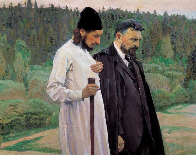 M. Nesterov, Filosofi (Florenskij e Bulgakov), 1917 (2)