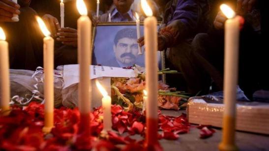A prayer vigil for Shahbaz Bhatti.