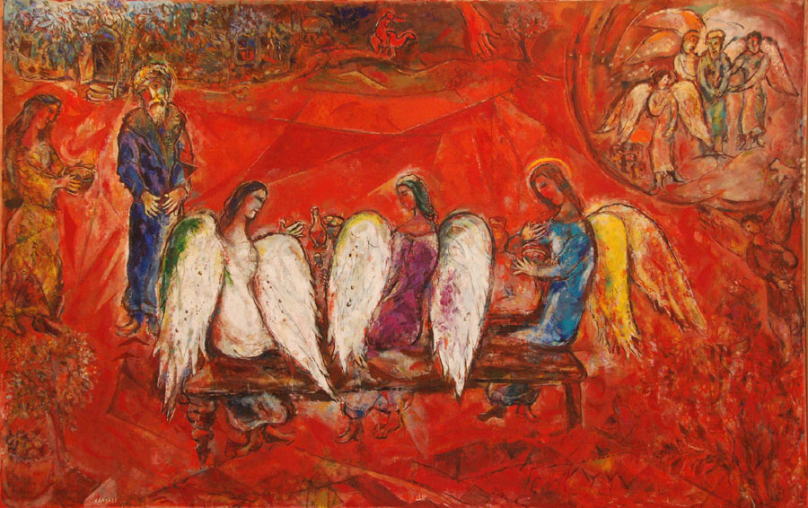 Chagall, Abraham and the Three Angels 1954-67