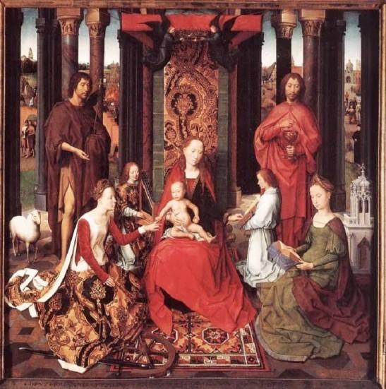 Hans Memling, Le nozze mistiche di santa Caterina.