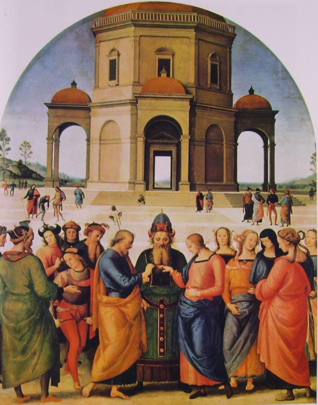 Pietro Perugino - Sposalizio della Vergine