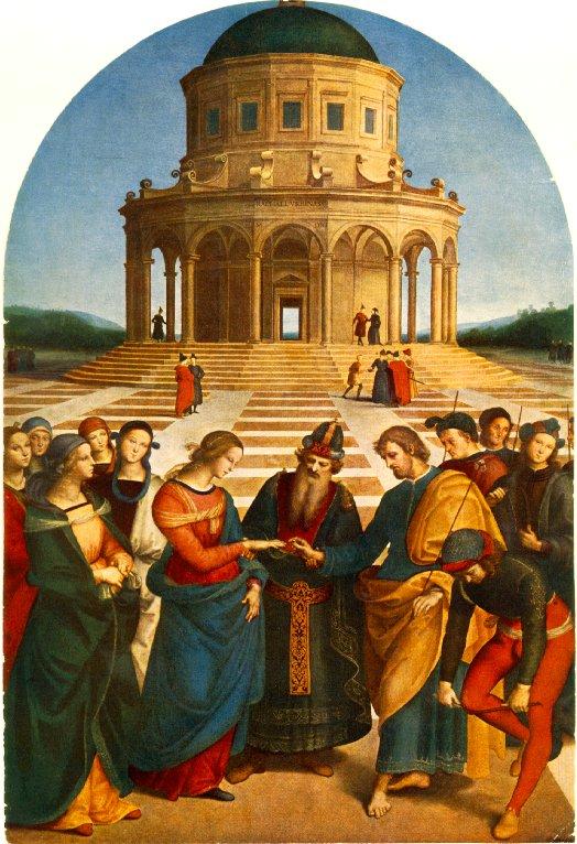 Sposalizio della Vergine (1504) di Raffaello Sanzio (Urbino 1483 - Roma 1520)