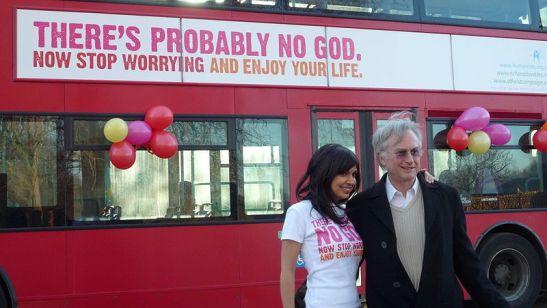 """Dawkins e uma das """"modelos"""" da sua campanha ateísta"""