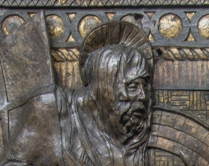 DONATELLO, scultore. Pulpito della Resurrezione, rilievo in bronzo (particolare)2