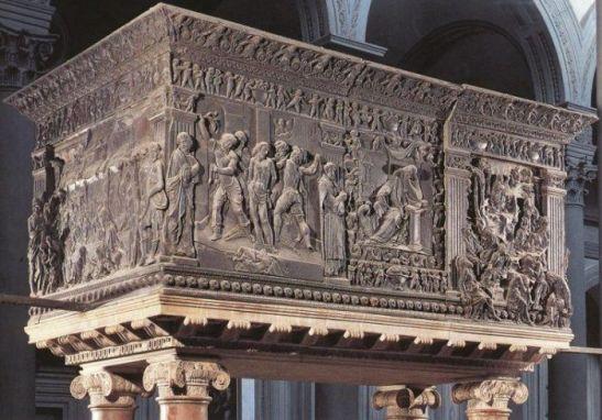 DONATELLO, scultore. Pulpito della Resurrezione, rilievo in bronzo