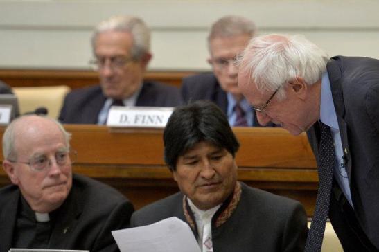 El presidente de Bolivia, Morales, y el candidato demócrata, Sanders