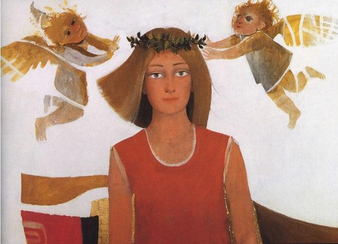 Arcabas - St Luc peignant la Vierge