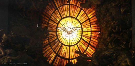 Gian Lorenzo Bernini e aiuti, La cattedra e la Gloria, 1657-1666, abside di san Pietro, Vaticano.