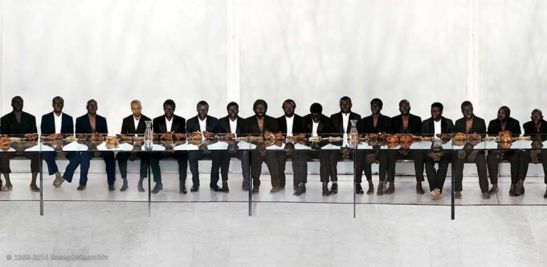 Vanessa Beecroft, VB65, performance, PAC Milano, 2009.