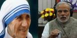 Mère Teresa et Narendra Modi.
